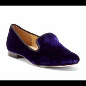 Cole Haan Royal Purple Sabrina Velvet Loafer